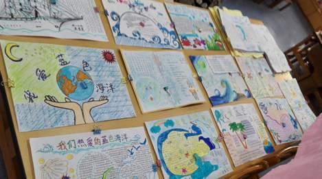 手抄报比赛,在初中一二年级开展科技海洋主题的手抄报比赛,集中评选出